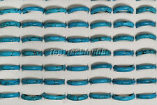 FREE wholesale Lot fashion jewelry 10ps natural sky blue turquoise gemstone ring