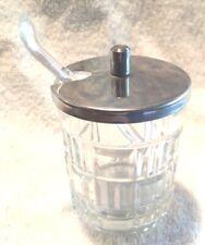 Vintage Kitchenware Tableware Glass Jelly Jars Mustard Jars Spoon Stainless Top