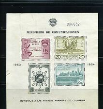 SOLDIERS WHO SERVED IN KOREA>1951/53>COLOMBIA >>S/SHEET >RARE USED  1955
