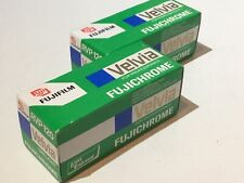 2x Factory Sealed Outdated Fujichrome Velvia RVP  120 COLOUR REVERSAL  Roll Film