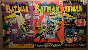 BATMAN (#170 #174 #184) ***LOW GRADE (1965-) DC COMICS NATIONAL LOT