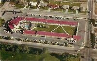 Idaho Falls Idaho~Flamingo Motel and Restaurant Aerial View~1962 Postcard