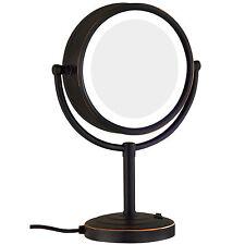 GURUN Lighted Vanity Tabletop Makeup Mirror 10X Magnifying & Regular Oil Bronze