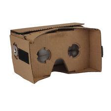 DIY Quality 3D Virtual Vr Reality Video Glasses Google Cardboard  + Resin Lens