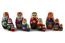 Lot 4 Matryoshkas Russian Nesting Doll Wooden Puppe Poupee Babushka Gift 3 pcs