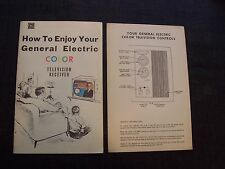 vintage booklet - How to Enjoy Your General Electric Color Television Receiver