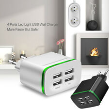 Phone Socket Adapter EU Plug Wall Charger 5V 4A  Fast Charging 4 Port USB Hub