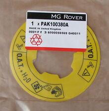 MG ROVER MINI COOPER MPI acqua refrigerante etichetta d'avena F TF MGZR MGZS pak100380a NUOVO