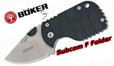 Boker Plus Subcom F Folder Plain Edge 01BO589 *NEW*