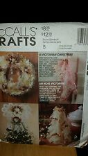 McCALL'S CRAFTS 6726 VICTORIAN CHRISTMAS with LACE