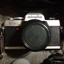 MINOLTA XG-1 35mm Film 2 LENSES PLUS CASE
