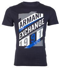Armani Exchange AN-16 Mens Designer T-SHIRT Premium NAVY BLUE Slim Fit $45 NWT