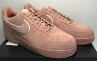 Nike Air Force 1 '07 Lv8  Mens Sz 13 Suede Red Stardust Pink Casual AA1117 601