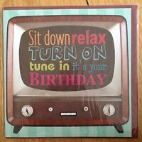 Relax TV Birthday Blank Greeting Note Card *NEW* Adult Kids Male Female (505)