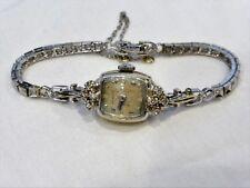 Ladies Vintage HAMILTON White Gold & Diamond WRIST WATCH w/ Appraisal .28ct