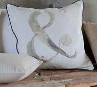 "Cuscino Arredo ""&"" Shabby Chic Blanc Mariclo Basic Lurex Collection 50x50 cm"