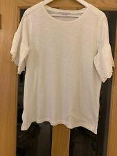 Per Una Size 16 Ivory Short Sleeved Tee Shirt