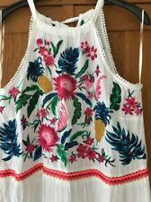 white emboidered monsoon maxi dress size medium (12-14)