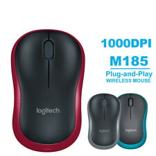 More details for logitech m185 wireless optical mouse compact pc laptop mouse +receiver uk&fast~~