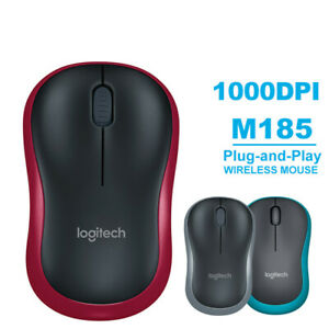 Logitech M185 Wireless Optical Mouse Compact PC Laptop Mouse +receiver UK&Fast~~