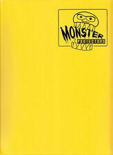 MATTE YELLOW Monster Binder Side-Loading 9-Pocket Card Album/Portfolio