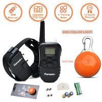 330 Yard Electric Trainer 100LV Shock Vibra LCD Remote Pet Dog Training Collar