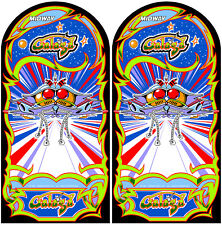 GALAGA  Arcade Cabinet Graphics For Reproduction Side Art