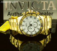 NEW Invicta Mens 49mm PRO DIVER Chronograph Stainless Steel WHITE DIAL Watch !!