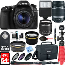 Canon EOS 80D CMOS DSLR Camera EF-S 18-55mm & 55-250mm Lens Accessory Kit