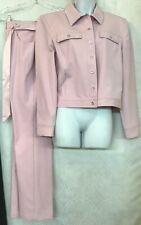 st john sport Rose Cotton Pants And Jacket Silver Beaded Trim Size 8 Jacket Med