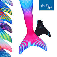 Kids Mermaid Tails for Swimming - Fin Fun Limited Edition - With Monofin