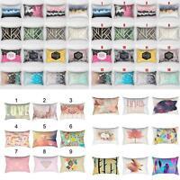 BG_ Colored Geometric Pillowcase Home Bedroom Cushion Cover Sofa Decor 30x50 Nov