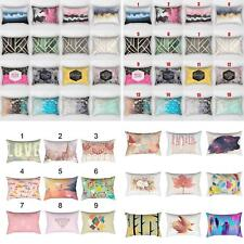 Colored Geometric Pillowcase Home Bedroom Cushion Cover Sofa Decor 30x50 Novelty