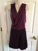 DVF Diane Von Furstenberg Maroon Red Sleeveless Dress, Size 6