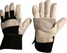 10 X Premium Leather Rigger Safety Gardening Gardener Work Gloves -Size 10