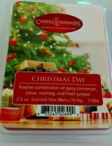 Genuine Candle Warmers Wax Melts - Clamshell 2.5 oz 6 pack- Christmas Day scent