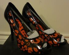 Iron Fist - Raw Power Heel Size 8 - Open Toe, Leopard Print