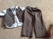 Baby Suit Age 18/24Mths Duck And Dodge Next Wedding Waist Coat Shirt Trousers❤️