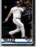 2019 Topps Series 2 ROWDY TELLEZ Black Parallel /67 Blue Jays Rookie #556