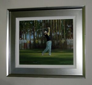 CRAIG CAMPBELL Original Oil Painting of Golf Legend Sandy Lyle 'Hole in one II'