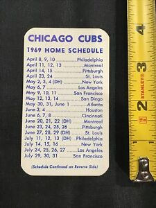 1969 Chicago Cubs Wrigley Field Box Seat Tickets baseball schedule