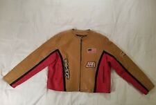 Extasy Street Biker Leather Jacket Women's Large Red and Tan Awesome Furious