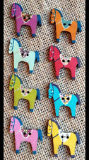 Pack of 8 multicoloured Horse Buttons