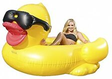 Giant Inflatable Yellow Duck, Floating Swimming Pool Raft Island Lake Float New