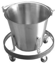 Stainless Steel Kick Bucket with Stand- New