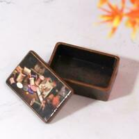 Dollhouse Miniature 1:12 Toy Metal Antique Sewing Box Hot W8P9