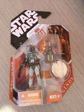 Star Wars 2007 30th Anniversary Boba Fett w/coin Saga Legends NEW