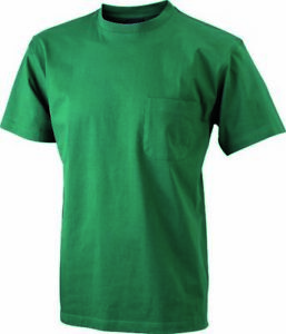 James & Nicholson Herren T-Shirt mit Brusttasche (JN920)