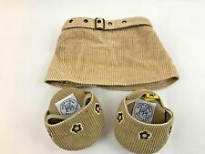 BAB Build a Bear Corduroy Skirt Shoes Butterfly Purse Pet Dog 5 Piece Set