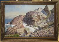 Leopold GÜNTHER-SCHWERIN German Impressionist Coastal Scene Listed German Artist